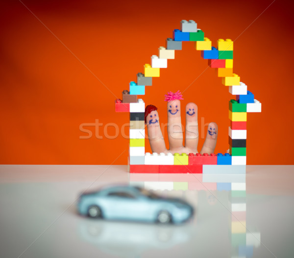 Family home and car concept Stock photo © zurijeta