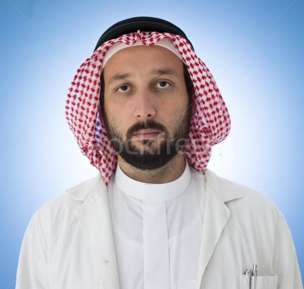Stock photo: Arabic doctor posing