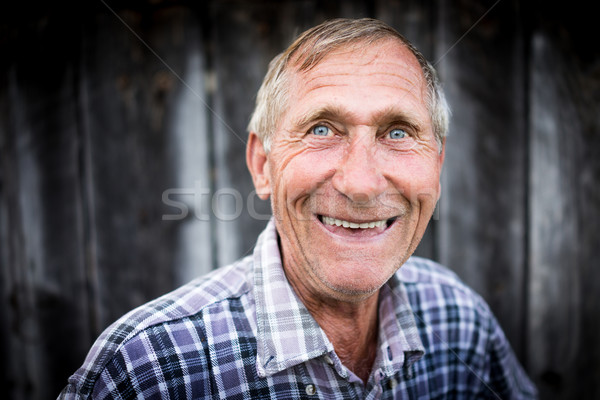 Mutlu gülen kıdemli adam portre Stok fotoğraf © zurijeta