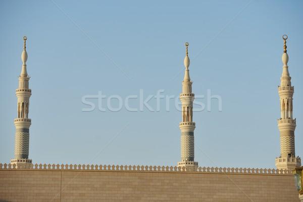 пророк святой мечети Саудовская Аравия здании толпа Сток-фото © zurijeta