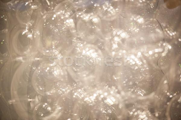Plastik kabarcıklar köpük soyut cam arka plan Stok fotoğraf © zurijeta