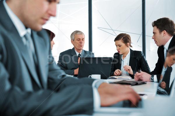 ストックフォト: 入力 · ビジネス · レポート · ノートパソコン · オフィス · 会議