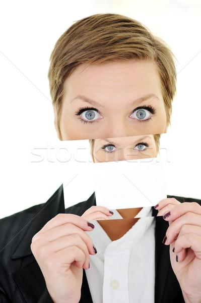 Kadın kişilik iş gülümseme göz tıbbi Stok fotoğraf © zurijeta