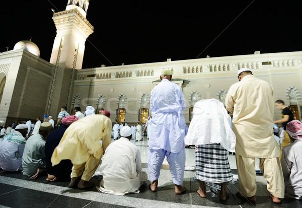 Moskee nacht ontwerp achtergrond bidden god Stockfoto © zurijeta