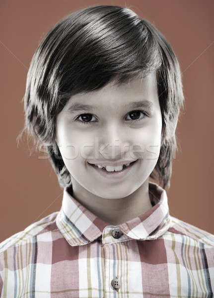 Portre gerçek çocuk çocuk saç Stok fotoğraf © zurijeta