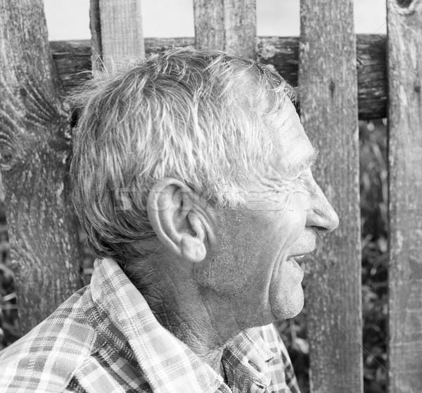 Portre kıdemli adam açık havada mutlu arka plan Stok fotoğraf © zurijeta