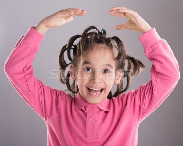 портрет смешные Cute мало мальчика устрашающий Сток-фото © zurijeta