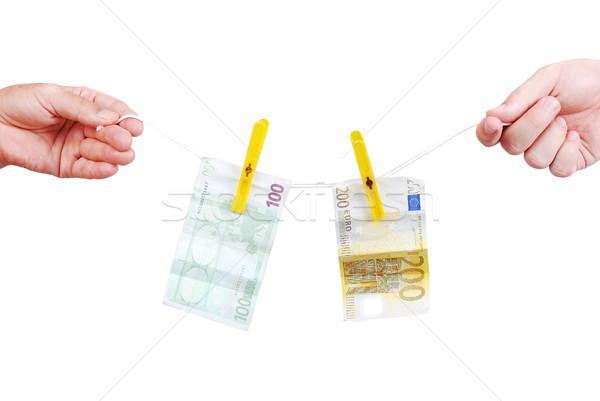 Washing money between two hands Stock photo © zurijeta