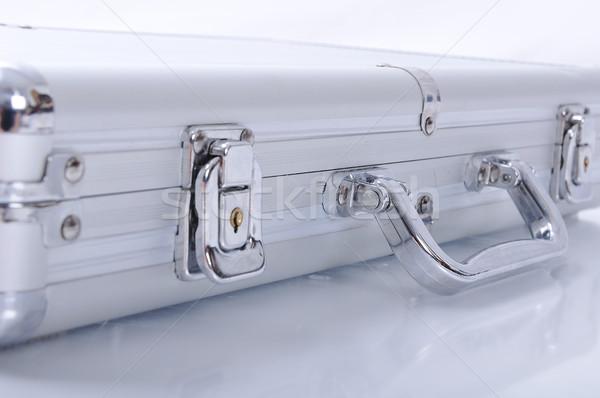 алюминий портфель бизнесмен путешествия блокировка чемодан Сток-фото © zurijeta