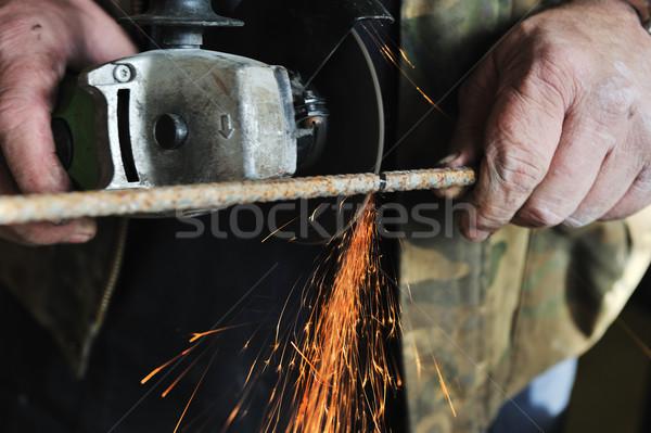 metal sawing close up Stock photo © zurijeta