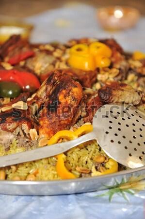Arabski tradycyjny żywności mięsa warzyw jedzenie Zdjęcia stock © zurijeta