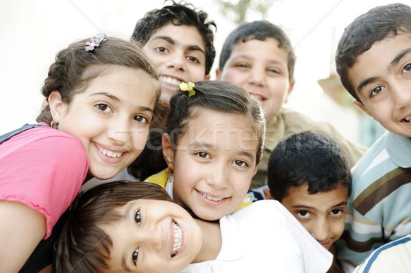 Group of happy children Stock photo © zurijeta