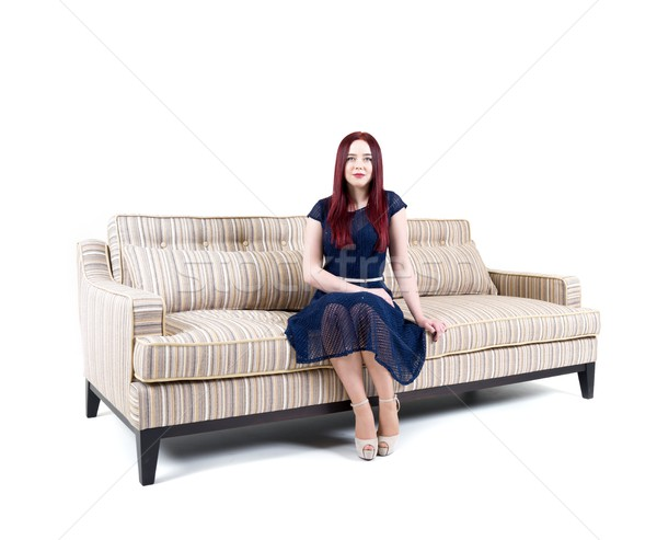Sofa isolated on white Stock photo © zurijeta