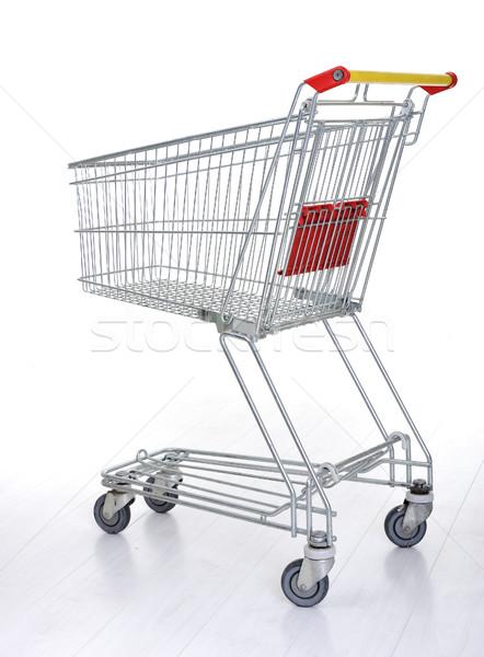 Bevásárlókocsi fehér üzlet otthon piac áruház Stock fotó © zurijeta