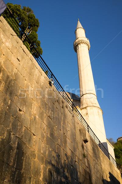 Berühmt Altstadt Bosnien-Herzegowina Haus Wand Straße Stock foto © zurijeta