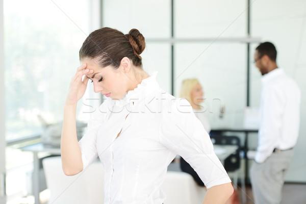 Uomini d'affari stress ufficio donna mani Foto d'archivio © zurijeta