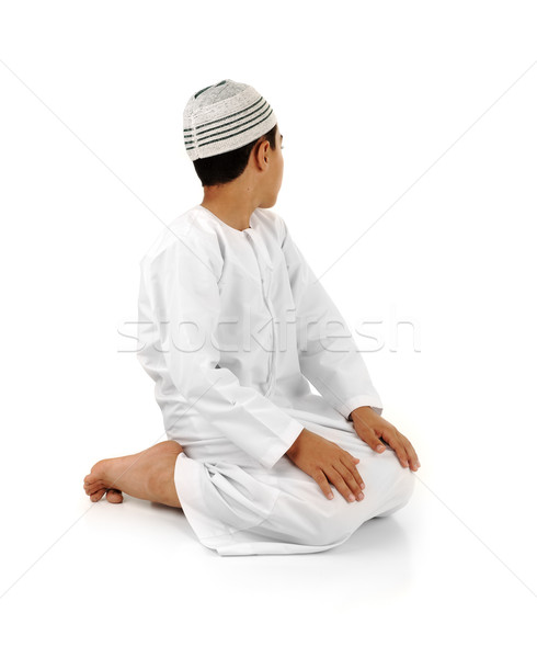 祈る 説明 フル アラビア語 子 ストックフォト © zurijeta