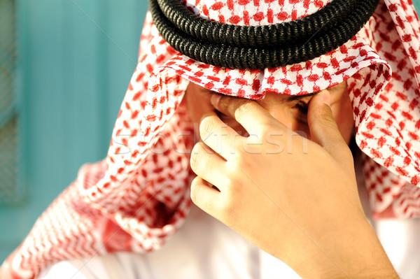 Stressed Arabic man Stock photo © zurijeta