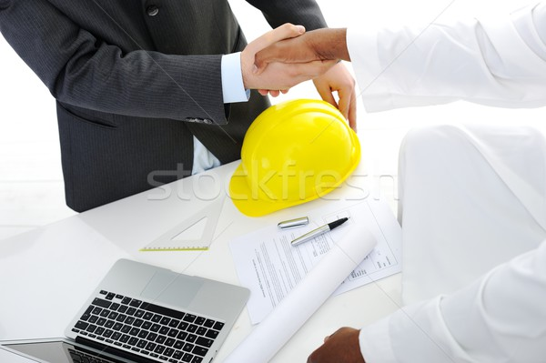 Making a successful deal for building at Middle eastern gulf Stock photo © zurijeta