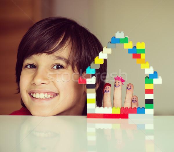 Family home concept Stock photo © zurijeta