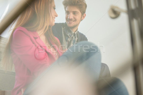 Image of young people having fun Stock photo © zurijeta