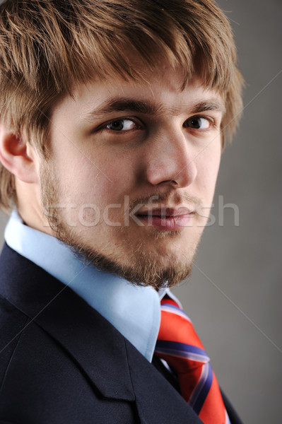 Young man with suit Stock photo © zurijeta