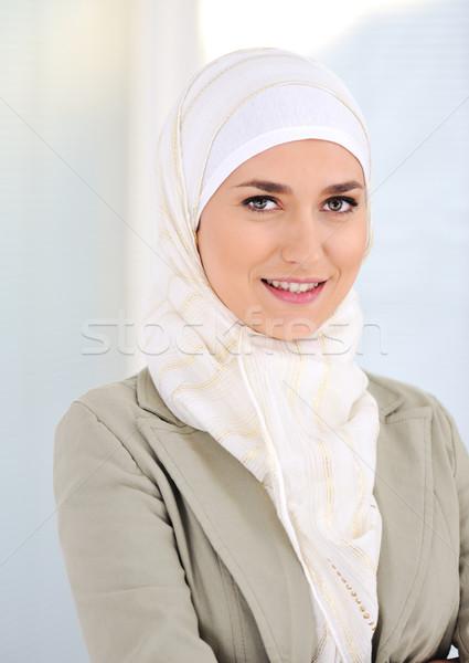 Muslim business woman in office Stock photo © zurijeta