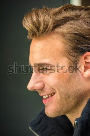молодым человеком студию позируют привлекательный молодые Сток-фото © zurijeta