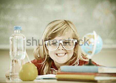 Aktif gerçek çocuklar sınıf okul ders Stok fotoğraf © zurijeta