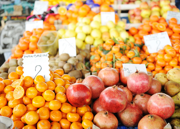 Fruits and vegetables market, bazaar Stock photo © zurijeta