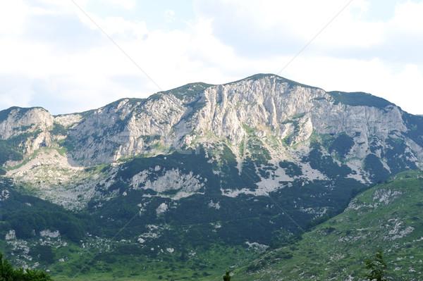Uçurum gökyüzü su dağ mavi Avrupa Stok fotoğraf © zurijeta