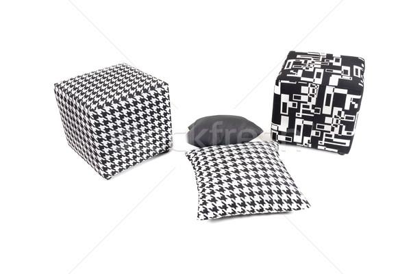 диван изолированный белый моде дизайна Председатель Сток-фото © zurijeta
