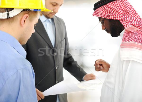 Сток-фото: Ближнем · Востоке · инженерных · дизайна · проект · служба