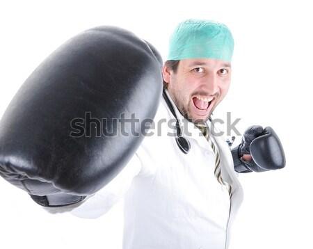 врач готовый борьбе рак бумаги улыбка Сток-фото © zurijeta
