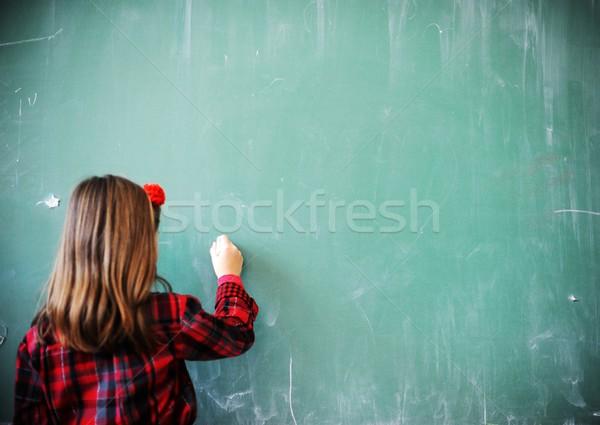 Aranyos iskolások osztályterem oktatás tevékenységek iskola Stock fotó © zurijeta