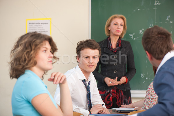 Classroom during a lecture Stock photo © zurijeta