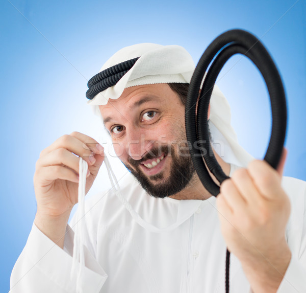 Arabisch man traditioneel kleding hoofddoek wiel Stockfoto © zurijeta