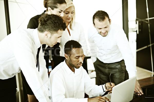 レトロな 成功した ビジネスの方々  本当の オフィス 作業 ストックフォト © zurijeta