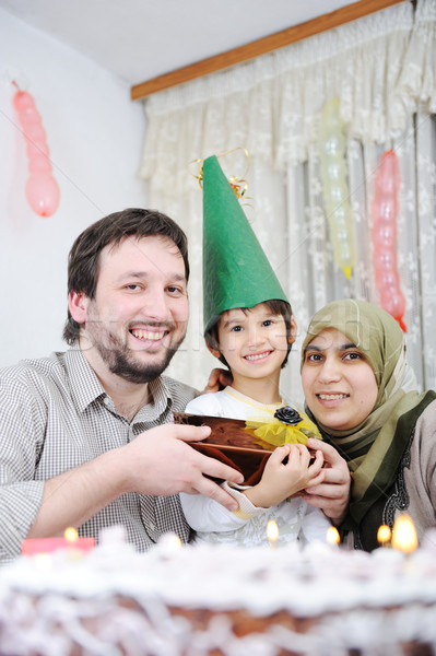 Muslim family birthday Stock photo © zurijeta