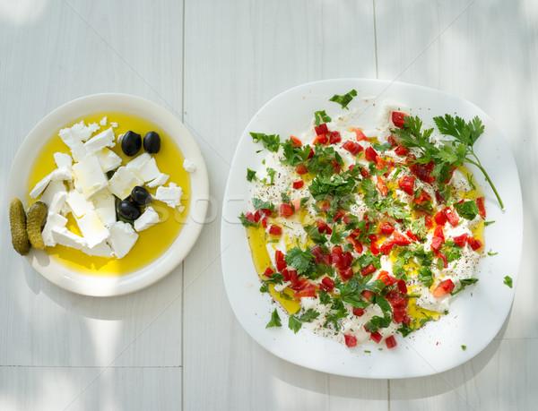 Verano orgánico cocina vegetales ingredientes Foto stock © zurijeta