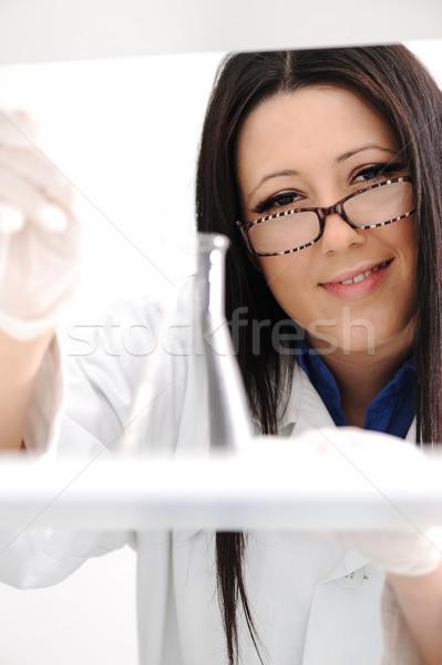 Сток-фото: молодые · медицинской · сотрудников · лаборатория · внутри · больницу