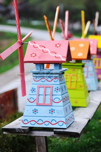Old wooden toys Stock photo © zurijeta