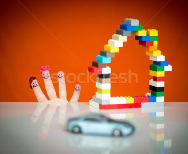 Family home and car concept Stock photo © zurijeta