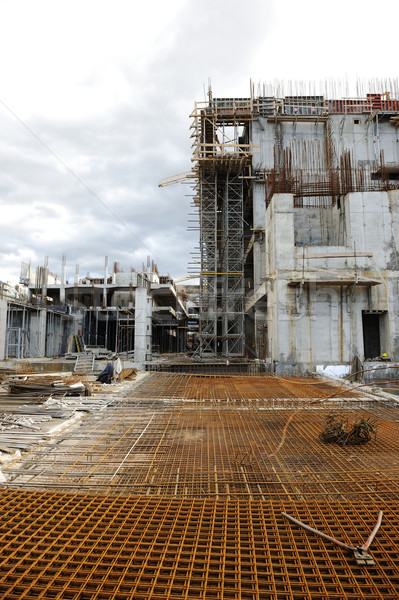 Construction site of a building Stock photo © zurijeta