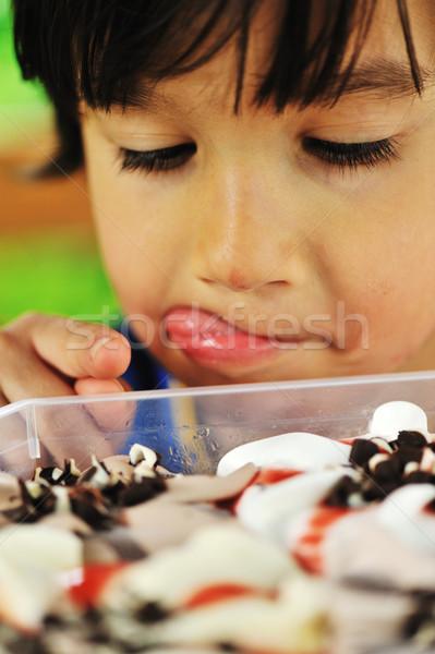 Ice cream temptation Stock photo © zurijeta