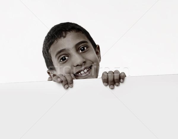 かわいい アフリカ 少年 後ろ ホワイトボード ストックフォト © zurijeta