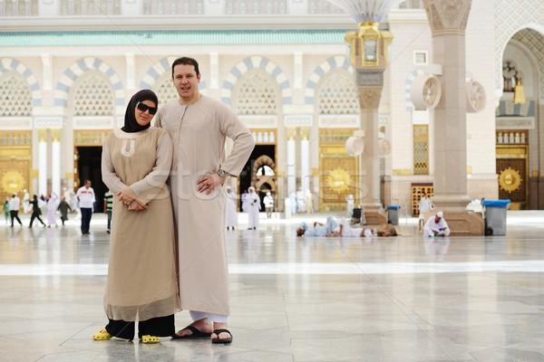 Stockfoto: Moslim · arabisch · buitenshuis · heilig · moskee