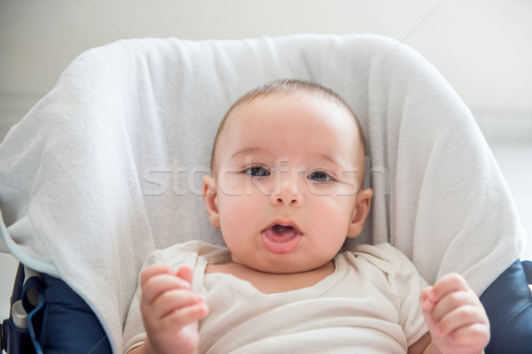 かわいい 座って 赤ちゃん 肖像 小さな ストックフォト © zurijeta