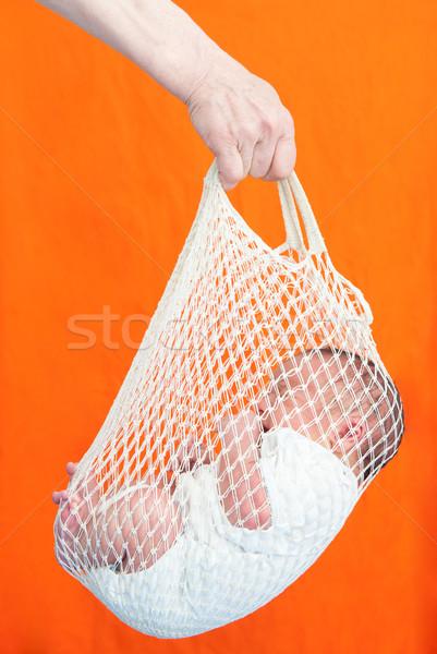 újszülött baba első nap házhozszállítás tart Stock fotó © zurijeta