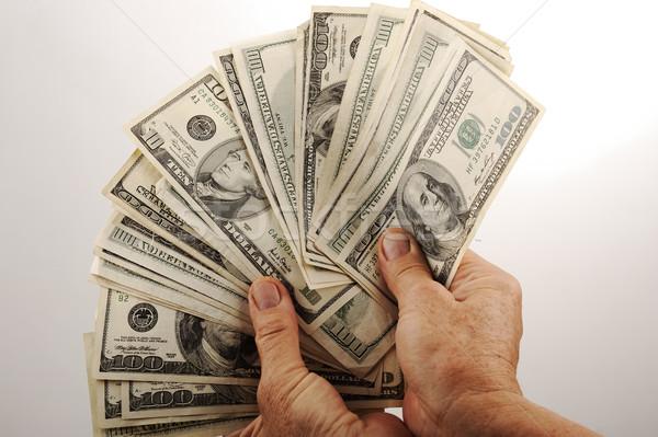 Hands holding money Stock photo © zurijeta